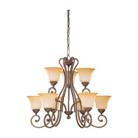 Sea Gull Lighting Brandywine 9 Light Chandelier in Antique Bronze 31432-71 photo thumbnail