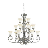 Sea Gull Lighting Brandywine 15 Light Chandelier in Antique Bronze 31433-71 photo thumbnail