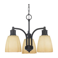 Sea Gull Lighting Century 3 Light Chandelier in Heirloom Bronze 31474-782
