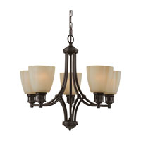 Sea Gull Lighting Century 5 Light Chandelier in Heirloom Bronze 31475-782