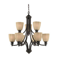 Sea Gull Lighting Century 9 Light Chandelier in Heirloom Bronze 31477-782 photo thumbnail