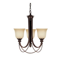 Park West 3 Light 21 inch Burnt Sienna Chandelier Single-Tier Ceiling Light in Standard