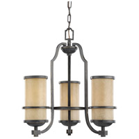 Roslyn 3 Light 18 inch Flemish Bronze Chandelier Ceiling Light in Standard