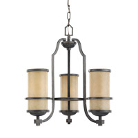 Roslyn 3 Light 18 inch Flemish Bronze Chandelier Ceiling Light