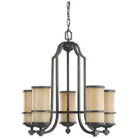 Roslyn 5 Light 23 inch Flemish Bronze Chandelier Ceiling Light in Standard