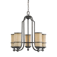 Roslyn 5 Light 23 inch Flemish Bronze Chandelier Ceiling Light
