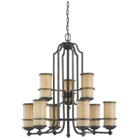Roslyn 9 Light 31 inch Flemish Bronze Chandelier Ceiling Light in Standard