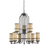 Roslyn 9 Light 31 inch Flemish Bronze Chandelier Ceiling Light