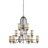Roslyn 12 Light 45 inch Flemish Bronze Chandelier Ceiling Light