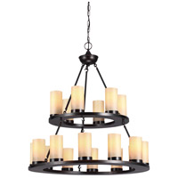 Sea Gull Ellington 18 Light Chandelier Multi-Tier in Burnt Sienna 31585-710