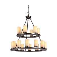 Ellington 18 Light 30 inch Burnt Sienna Chandelier Ceiling Light