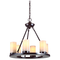 Sea Gull Lighting Ellington 6 Light Chandelier in Burnt Sienna 31586-710