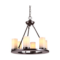 Ellington 6 Light 21 inch Burnt Sienna Chandelier Ceiling Light