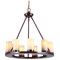 Sea Gull 31587BLE-710 Ellington 9 Light 27 inch Burnt Sienna Chandelier Ceiling Light in Fluorescent photo thumbnail
