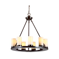 Ellington 9 Light 27 inch Burnt Sienna Chandelier Ceiling Light