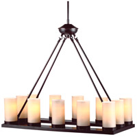 Ellington 12 Light 15 inch Burnt Sienna Chandelier Ceiling Light in Fluorescent
