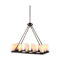 Ellington 12 Light 15 inch Burnt Sienna Chandelier Ceiling Light