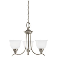 Wheaton 3 Light 22 inch Brushed Nickel Chandelier Ceiling Light in Standard