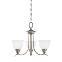 Wheaton 3 Light 22 inch Brushed Nickel Chandelier Ceiling Light