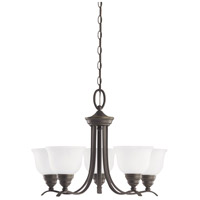 Wheaton 5 Light 24 inch Heirloom Bronze Chandelier Ceiling Light in Standard