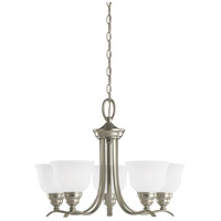 Sea Gull Lighting Wheaton 5 Light Chandelier in Brushed Nickel 31626-962