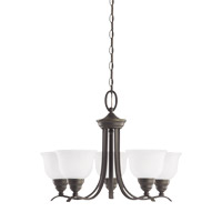 Wheaton 5 Light 24 inch Heirloom Bronze Chandelier Ceiling Light