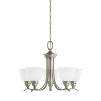 Sea Gull 31626EN3-962 Wheaton 5 Light 24 inch Brushed Nickel Chandelier Ceiling Light