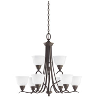 Sea Gull Lighting Wheaton 9 Light Chandelier in Heirloom Bronze 31627-782 photo thumbnail