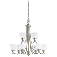 Sea Gull Lighting Wheaton 9 Light Chandelier in Brushed Nickel 31627-962