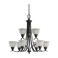 Sea Gull Lighting Wheaton 9 Light Chandelier in Heirloom Bronze 31627BLE-782