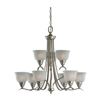 Wheaton 9 Light 31 inch Brushed Nickel Chandelier Ceiling Light in Fluorescent