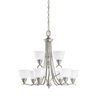 Sea Gull 31627EN3-962 Wheaton 9 Light 31 inch Brushed Nickel Chandelier Ceiling Light