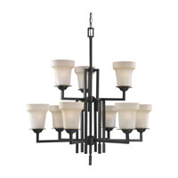 Sea Gull Lighting Cardwell 9 Light Chandelier in Misted Bronze 31633-814 photo thumbnail