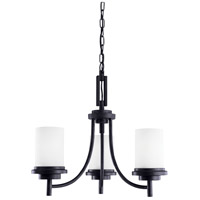 Winnetka 3 Light 21 inch Blacksmith Chandelier Ceiling Light in Satin Etched Glass, Standard