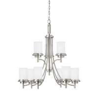 Sea Gull 31662EN3-962 Winnetka 9 Light 32 inch Brushed Nickel Chandelier Ceiling Light