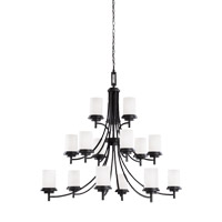 Sea Gull 31663EN3-839 Winnetka 15 Light 47 inch Blacksmith Chandelier Ceiling Light
