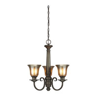 Blayne 3 Light 20 inch Platinum Oak Chandelier Single-Tier Ceiling Light in Standard