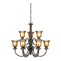 Sea Gull Blayne 9 Light Chandelier Single-Tier in Platinum Oak 3170409BLE-736