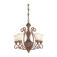 Highlands 5 Light 27 inch Regal Bronze Chandelier Ceiling Light