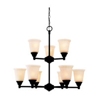 Sea Gull Lighting Belair 9 Light Chandelier in Vintage Brown 31792-862