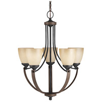 Sea Gull Corbeille 5 Light Chandelier Single-Tier in Stardust / Cerused Oak 3180405BLE-846