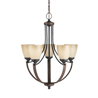 Corbeille 5 Light 23 inch Stardust Chandelier Ceiling Light