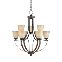 Corbeille 9 Light 28 inch Stardust Chandelier Ceiling Light