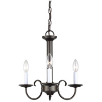 Sea Gull 31807-782 Holman 3 Light 16 inch Heirloom Bronze Chandelier Ceiling Light photo thumbnail