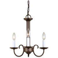 Sea Gull Lighting Holman 3 Light Chandelier in Bell Metal Bronze 31807-827