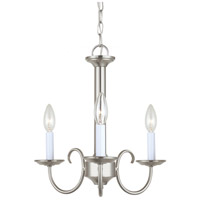 Sea Gull 31807-962 Holman 3 Light 16 inch Brushed Nickel Chandelier Ceiling Light