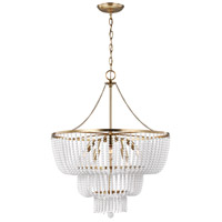 Sea Gull Satin Brass Steel Chandeliers