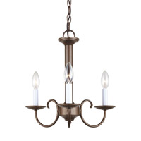 Holman 3 Light 16 inch Bell Metal Bronze Chandelier Ceiling Light