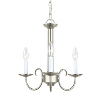 Sea Gull 31807EN-962 Holman 3 Light 16 inch Brushed Nickel Chandelier Ceiling Light