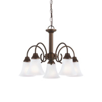 Sea Gull 31808-827 Holman 5 Light 20 inch Bell Metal Bronze Chandelier Ceiling Light alternative photo thumbnail